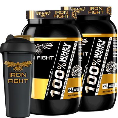 COMBO 2 100% WHEY PROTEIN + 1 COQ GRÁTIS