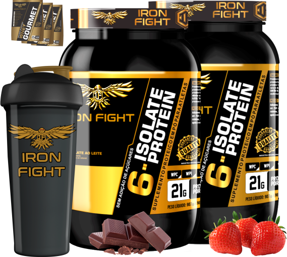 COMBO 2 6-ISOLATE PROTEIN + 1 COQ GRÁTIS + 3 AMOSTRAS GRÁTIS