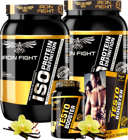 COMBO 2 ISO PROTEIN DEFINITION + 1 ADVANCED TESTO BOOSTER