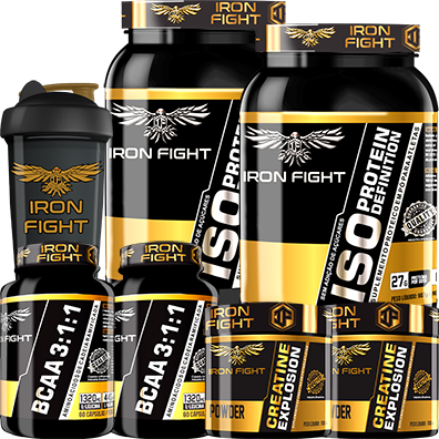 COMBO 2 ISO PROTEIN DEFINITION + 2 BCAA 3:1:1 + 2 CREATINE + 1 COQ GRÁTIS