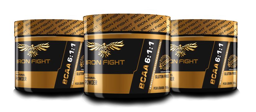 Combo 3 unid BCAA 6:1:1 - Pote 150g pó Iron Fight