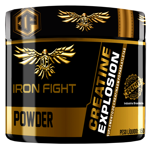 Creatine Explosion Pote 150g em pó Iron Fight