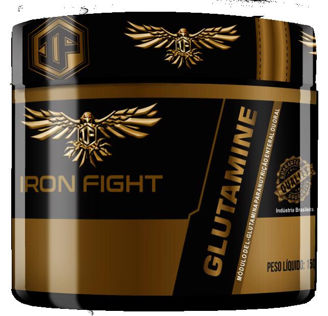 Glutamine Pote 150g em pó Iron Fight