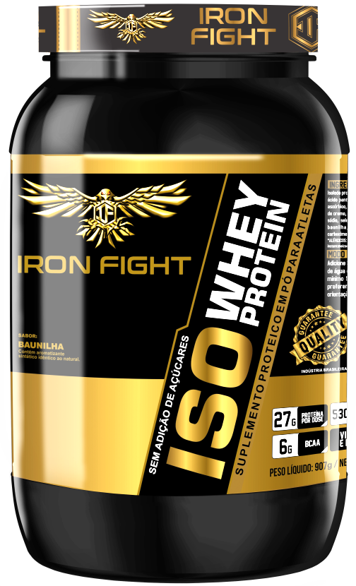 ISO Whey Protein Pote 907g em pó Iron Fight