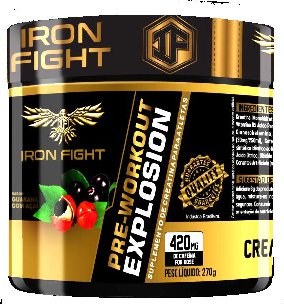 Pre-Workout Explosion Pote 270g em pó Iron Fight