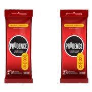 Kit 2 pack Preservativo Prudence Lubrificado 8 Unid