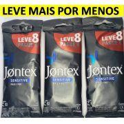 KIT 3 PACK PRESERVATIVO JONTEX SENSITIVE LUBRIFICADO L8P6