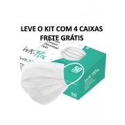 KIT 4 CXS Mascara Cirúrgica Descartável Tripla Camada com 50 unid - FRETE GRATIS