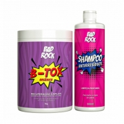 Kit B-TOX Orgânico 1kg + Shampoo Antirresíduo Bad Rock 500ml - HANOVA