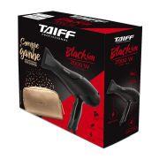 Secador de Cabelos Taiff Black Íon Profissional 2000W Preto com Necessaire 220W