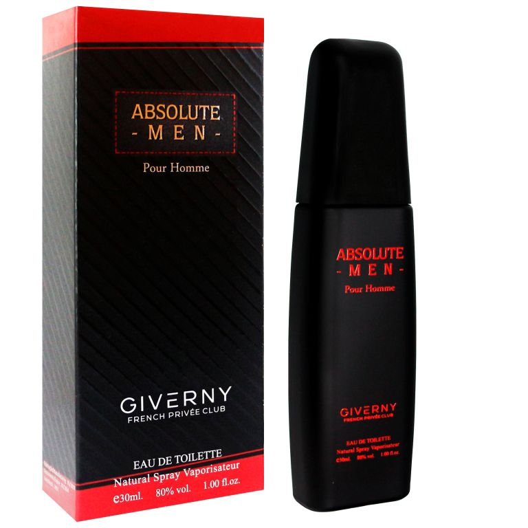 PERFUME MASCULINO ABSOLUTE MEN POUR HOMME - GIVERNY 30ML