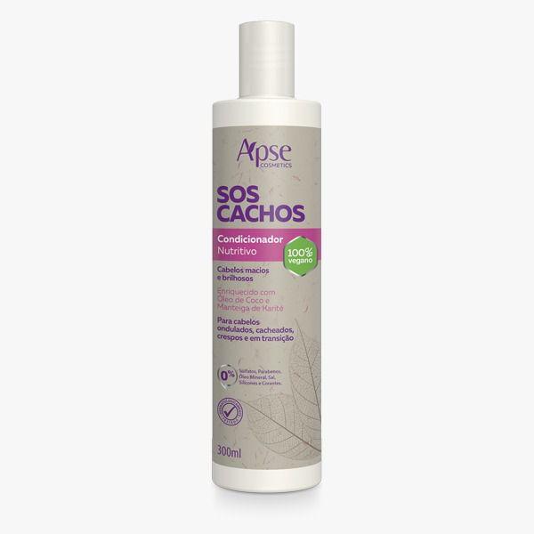 Condicionador SOS Cachos - 300ml - Apse- 100% VEGANO