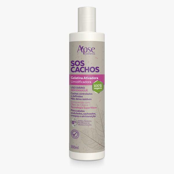 Gelatina Ativadora SOS Cachos - 300ml - Apse - 100% VEGANO