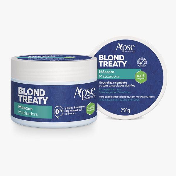 Máscara Capilar Matizadora Blond Treaty- 250g - Apse - 100% VEGANO