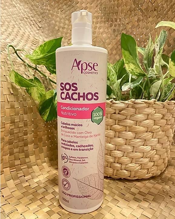 Condicionador SOS Cachos - 10000ml - Apse- 100% VEGANO