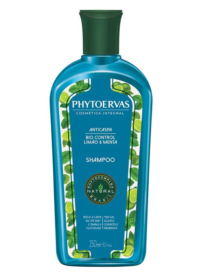 Shampoo Anticaspa Limão e Menta Phytoervas 250ml
