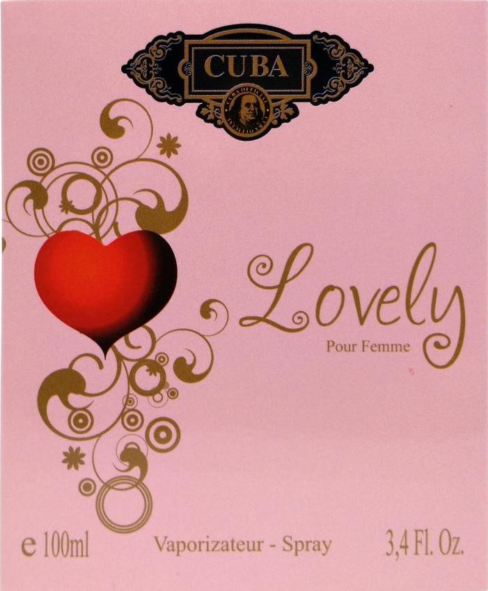 CUBA LOVELY DEO PARFUM PRIME 100ML - FEM