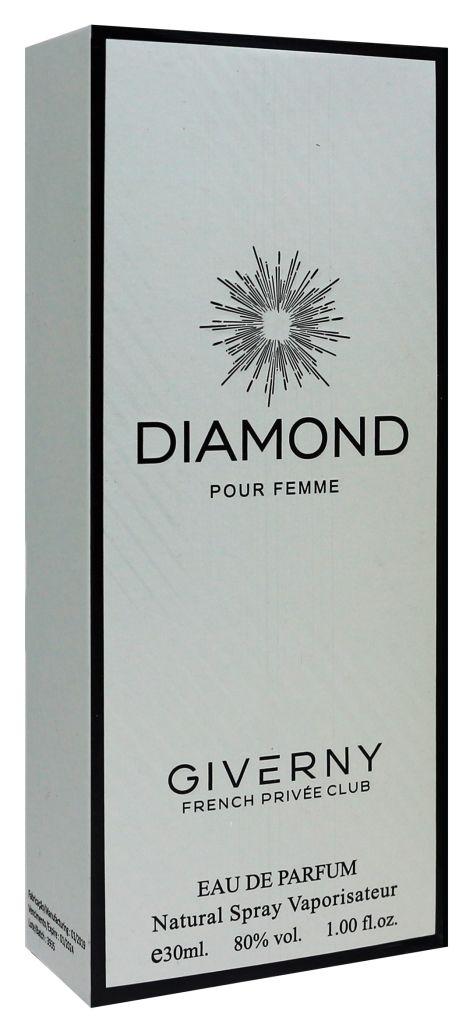 PERFUME FEMININO DIAMOND POUR FEMME  GIVERNY 30ML