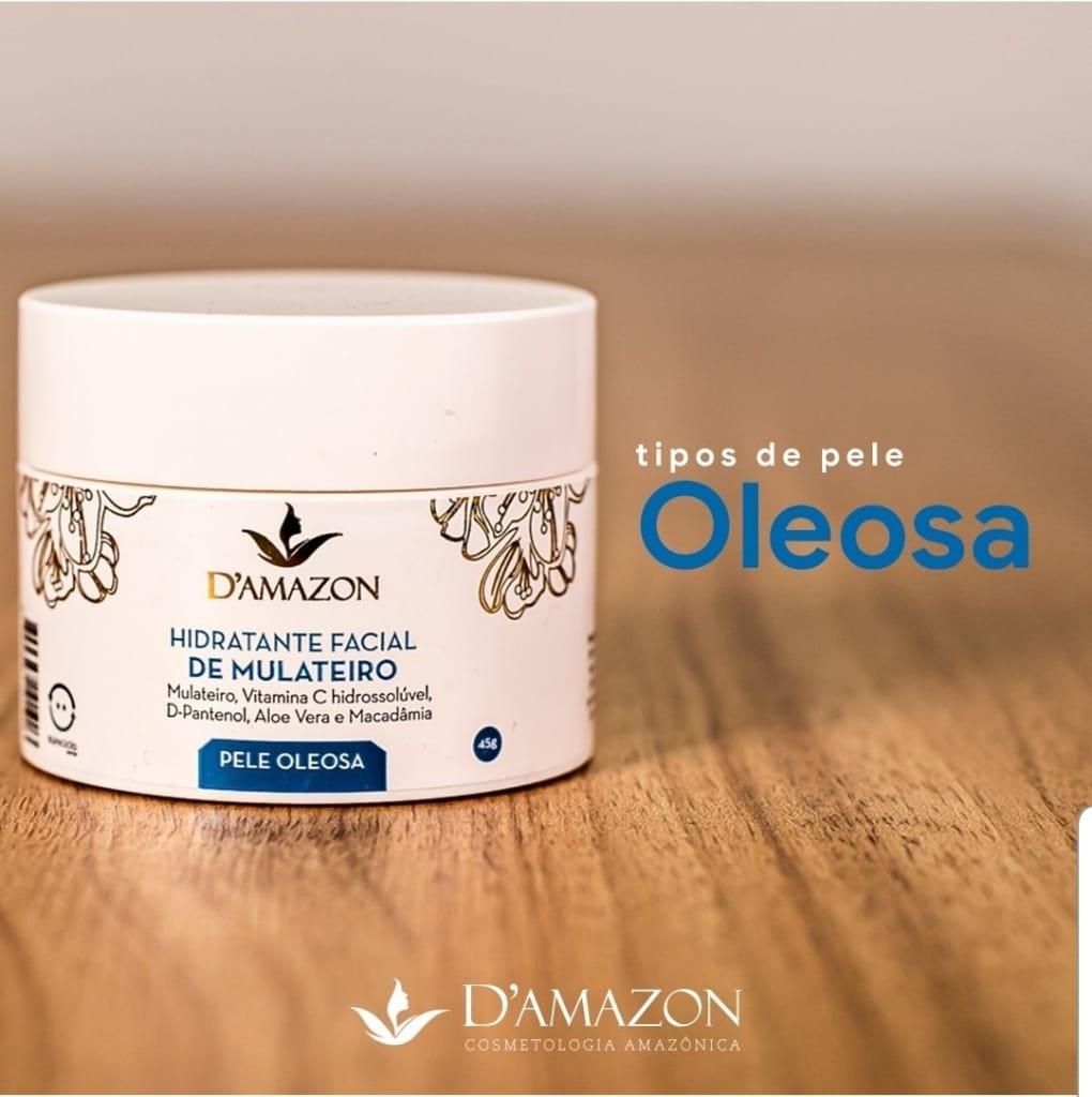 Hidratante Facial de Mulateiro para pele Oleosa 45gr