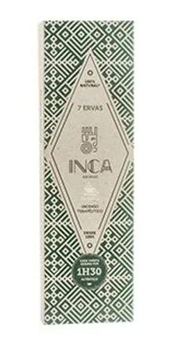 Incenso 7 Ervas Inca (4 Varetas De 1h30 Cada)