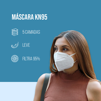 Kit 10 Mascaras Kn95 C/5 Camadas Respiratória  Pronta Entrega