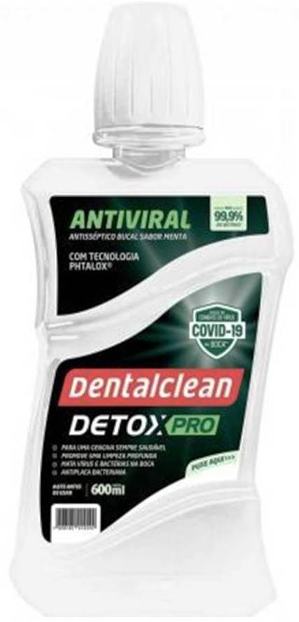 Kit 12 Enxaguante Bucal Detox Viral Pro - Dentalclean 600ml