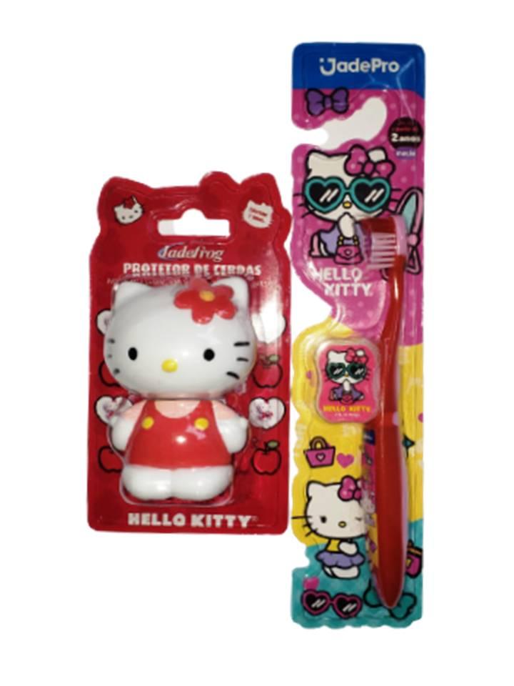 kit 1 Porta Escova e 1 Escova Hello Kitty