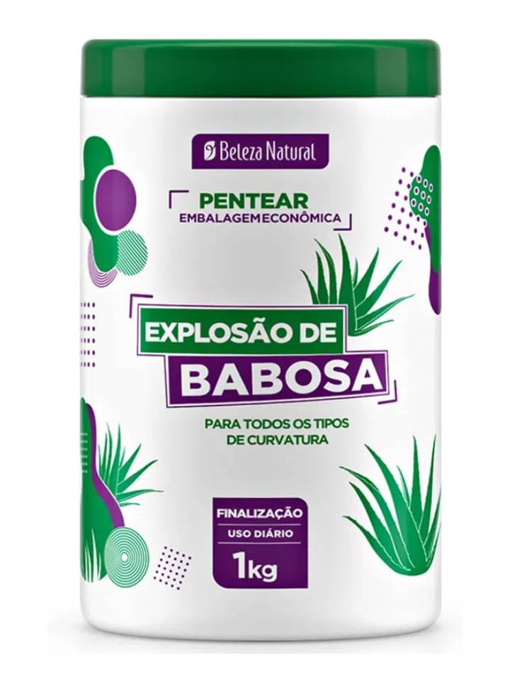 Kit 3 Creme de Pentear Explosão de Babosa 1Kg Beleza Natural