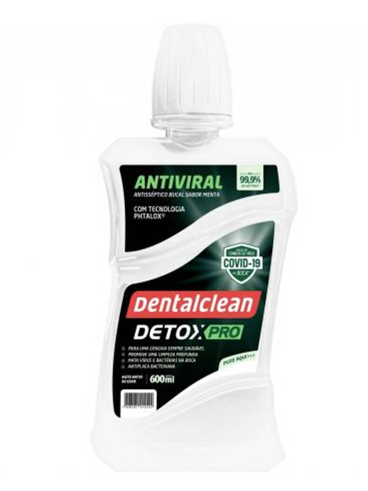 Kit 6 Enxaguante Bucal Detox Viral Pro - Dentalclean 600ml