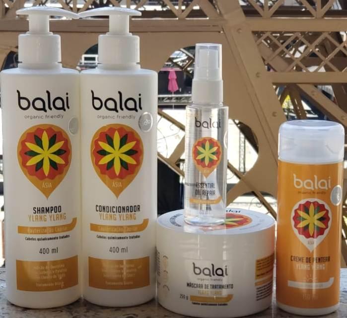 KIT BALAI 5 PRODUTOS CAUTERIZAÇÃO CAPILAR BALAI - ÁSIA