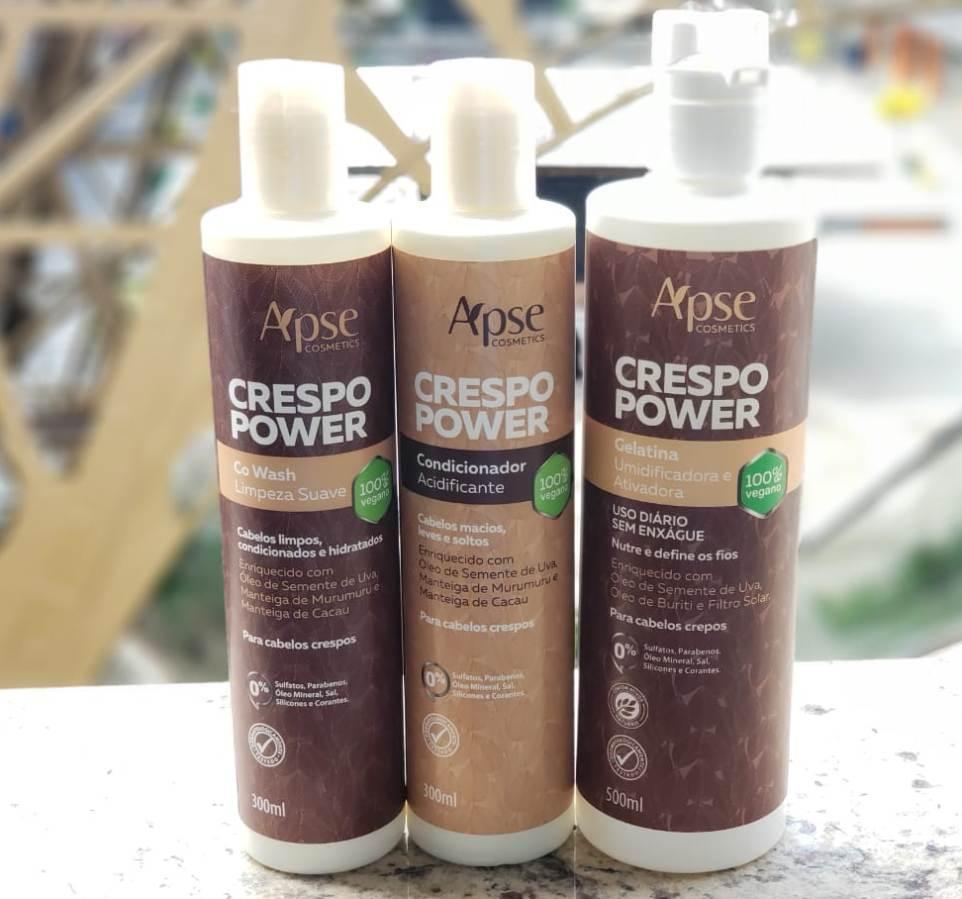 Kit Crespo Power - 3 produtos Apse - 100% VEGANO