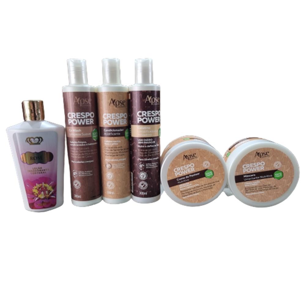 Kit Crespo Power - 5 produtos Apse + gratis hidratante - 100% VEGANO