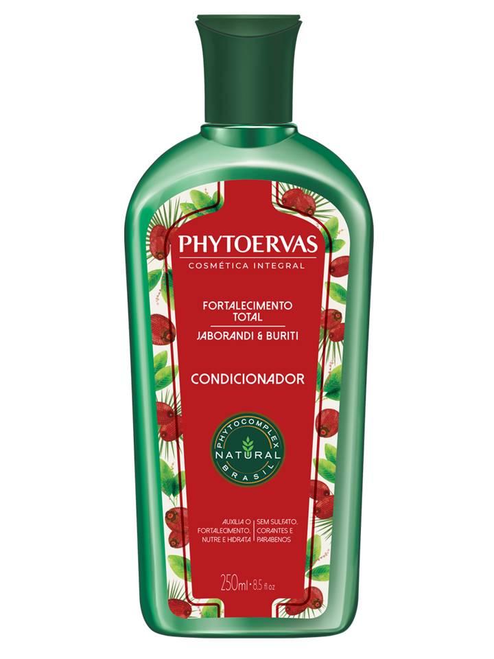Kit Shampoo e Cond Fortalecimento Total Jaborandi e Buriti Phytoervas 250ml