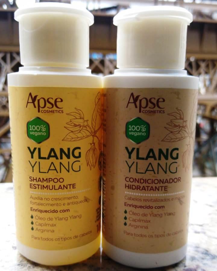 -KIT Shampoo Estimulante e Condicionador Ylang Ylang 100ml - Apse- 100% VEGANO