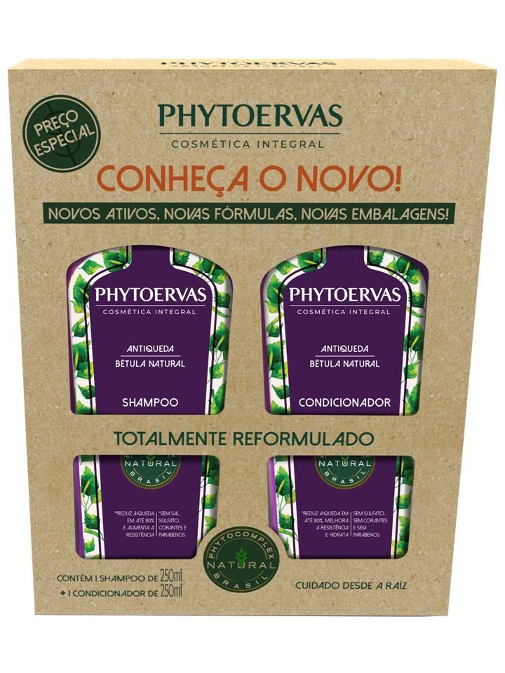 Kt Shampoo e Cond Antiqueda Bétula Natural Phytoervas 250ml