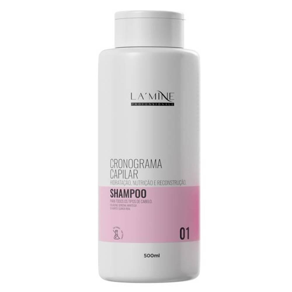 LAMINE SHAMPOO CRONOGRAMA CAPILAR 500ML - HANOVA