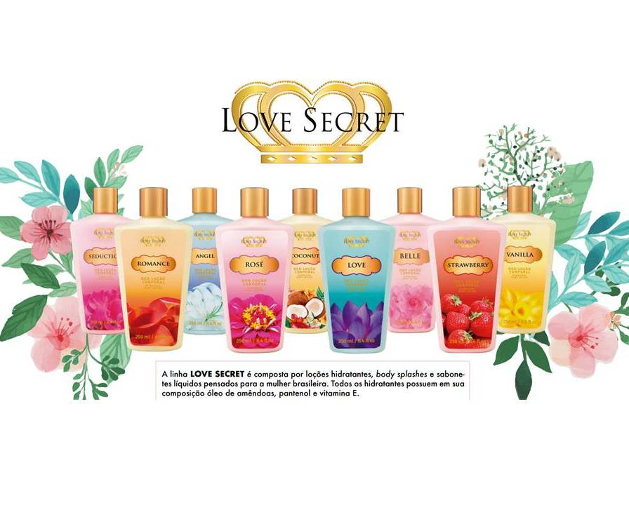 Loção Desodorante Coconut Love Secret - Para o Corpo - 250ml