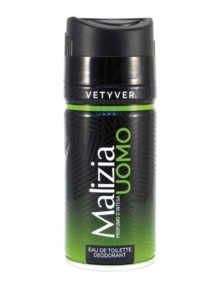 Malizia Vetyver Déodorant Desodorante Masculino 150Ml