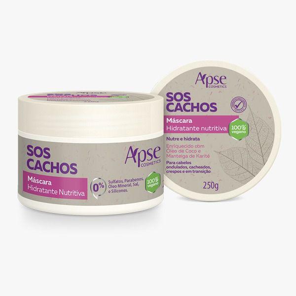 Máscara Capilar Hidratante Nutritiva SOS Cachos- 250g - Apse - 100% VEGANO