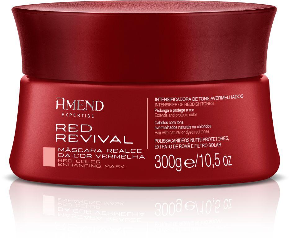 Máscara Realce da Cor Vermelha Red Revival Amend - 300g
