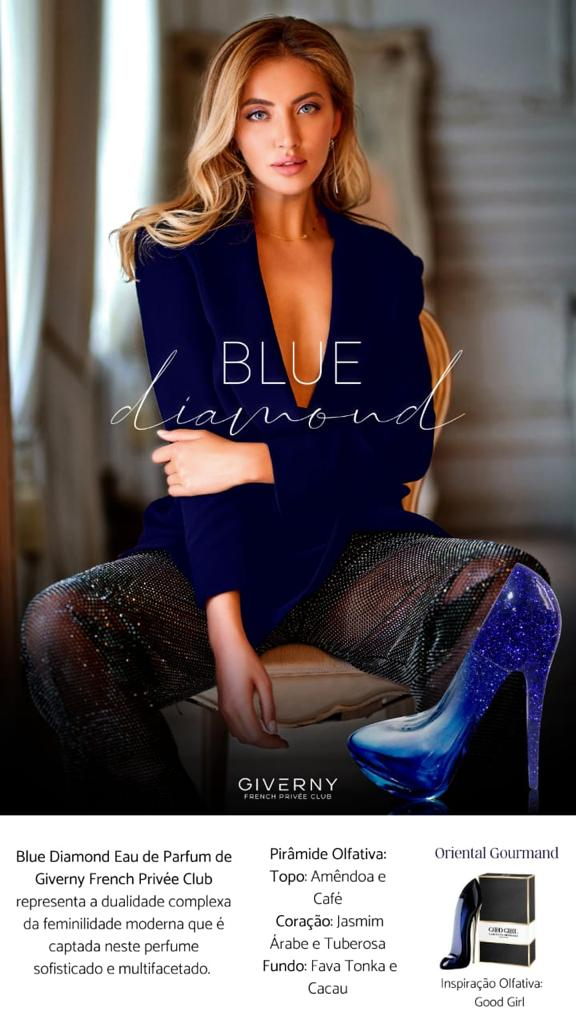 PERFUME FEMININO SAPATINHO GIVERNY BLUE DIAMOND FEMME-100 ML