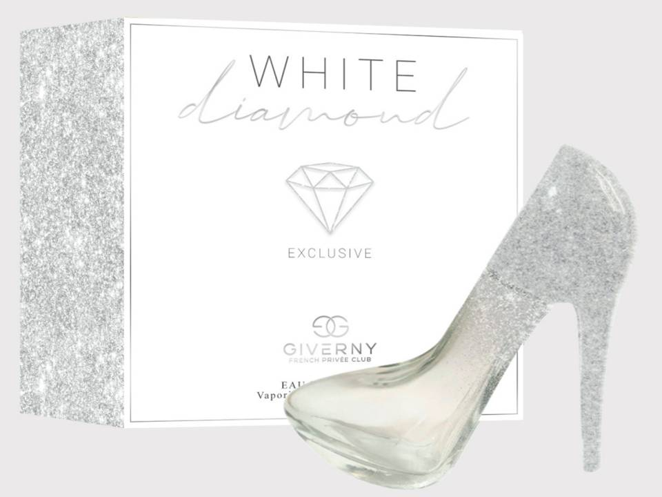 PERFUME FEMININO SAPATINHO GIVERNY WHITE DIAMOND FEMME-100 ML