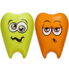 Porta Escova Dentinho Verde e laranja Curaprox