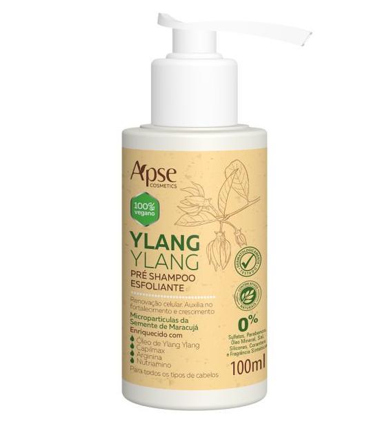 Pré Shampoo Esfoliante Ylang Ylang 100ml - Apse- 100% VEGANO