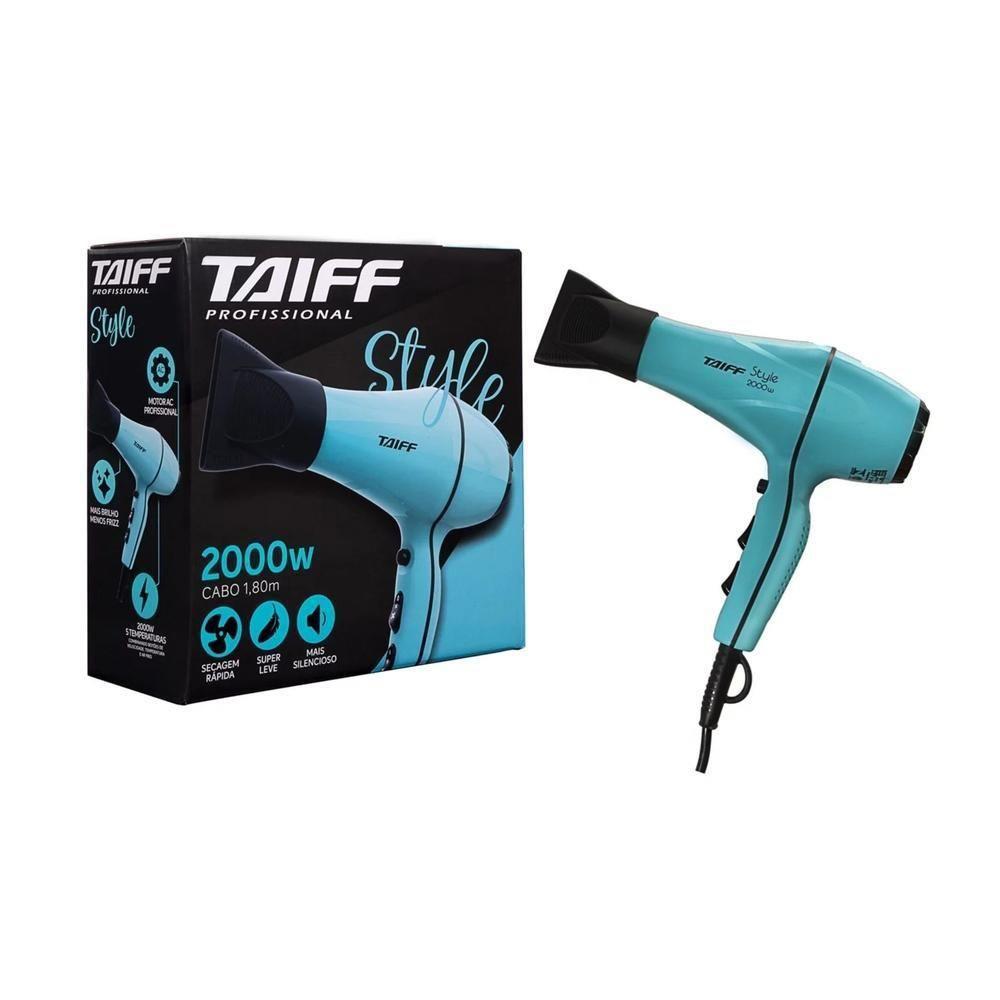Secador De Cabelo Profissional Taiff Style Azul Tiffany 2000w - 127v