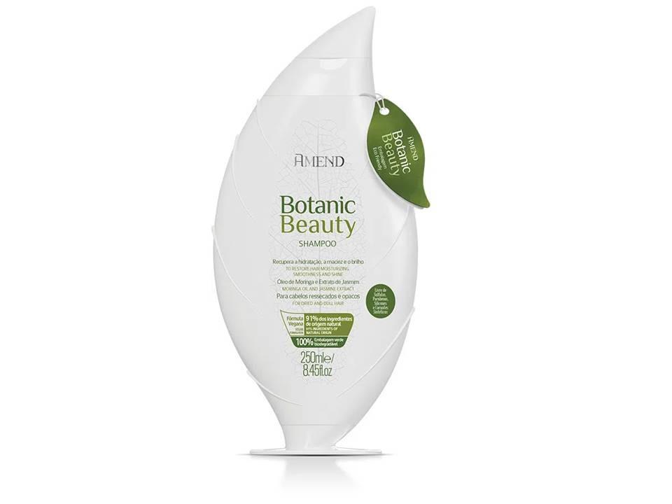 Shampoo Amend Botanic Beauty Óleo de Moringa e Extrato de Jasmim 250ml