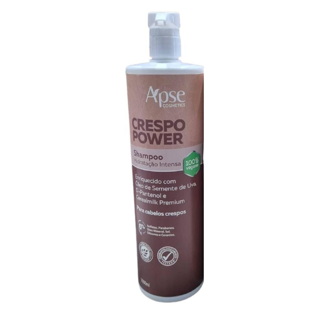 Shampoo Crespo Power Hidratação Intensa 1000ml Apse - 100% VEGANO