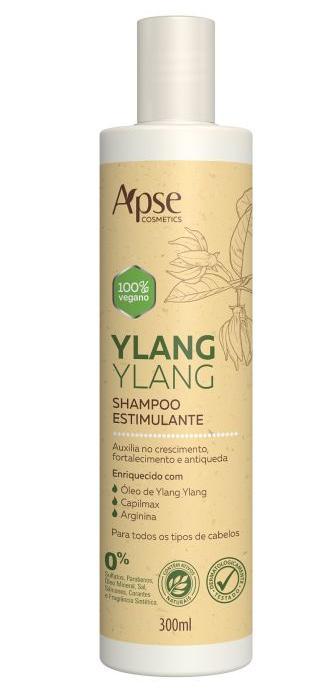 Shampoo Estimulante Ylang Ylang 300ml - Apse- 100% VEGANO