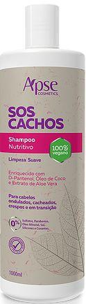 SHAMPOO NUTRITIVO SOS CACHOS 1000ML - APSE - 100% VEGANO