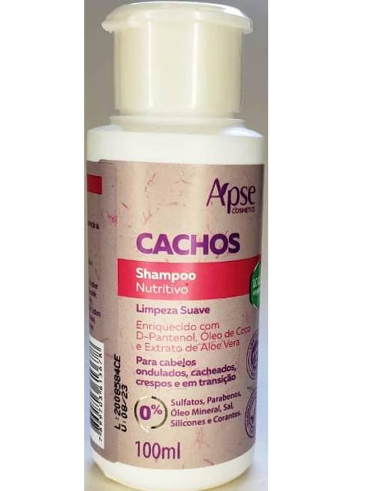 SHAMPOO NUTRITIVO SOS CACHOS 100ML - APSE - 100% VEGANO